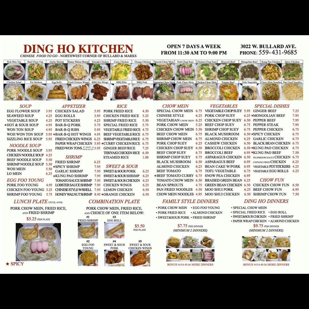 Ding Ho Kitchen - Chinese Food to Go - Fresno, CA